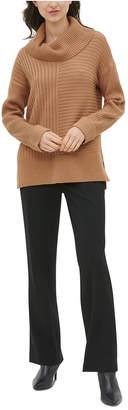 Calvin Klein Ribbed Cowl-Neck Sweater