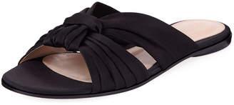 Gianvito Rossi Satin Bow Knot Slide Sandal