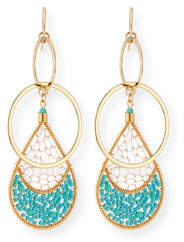 Devon Leigh Double-Link Teardrop Earrings