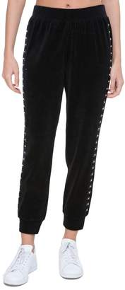 Juicy Couture Floral Embellished Velour Pant