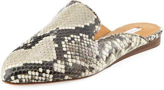 Veronica Beard Greyson Python-Embossed Mule