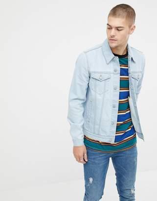 Asos DESIGN denim jacket in light blue wash