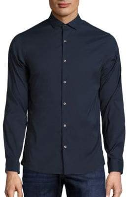 Michael Kors Slim-Fit Stretch Button-Down Shirt