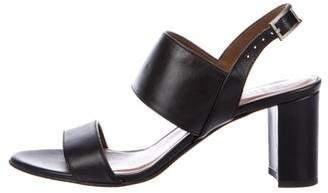 Aquatalia Pebble Leather Sandals