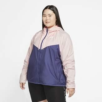 Nike Women's Jacket (Plus Size Sportswear Windrunner