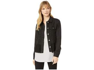 Scully Karter Denim and Lace Ruffle Jacket