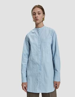 Mijeong Park Patch Pocket Cotton Shirt in Light Blue