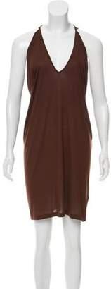 Tomas Maier Cold-Shoulder Mini Dress