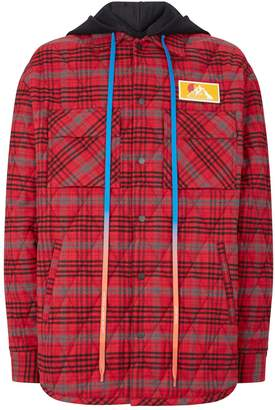Off-White Off White Check Flannel Oversized Jacket