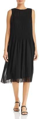 Eileen Fisher Sleeveless Plissé Dress