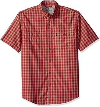 G.H. Bass & Co. Men's Explorer Fancy Short Sleeve Plaid Shirt