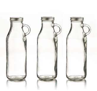 Jay Import Glass 32.3 oz. Milk Bottles - Set of 3