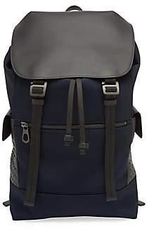c795f5256b Bottega Veneta Men s Intrecciato Trim Canvas Backpack