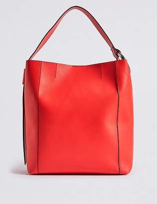 Marks and Spencer Faux Leather Ring Slouch Shoulder Bag