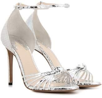 Altuzarra Parker 105 metallic leather sandals