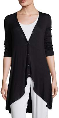 Three Dots Women's Solid Shirred Cardigans