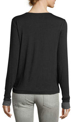 Bailey 44 Side-Knotted Long-Sleeve Tee