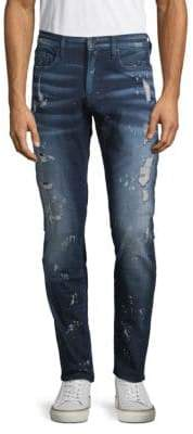 PRPS Paint-Splatter Distressed Jeans