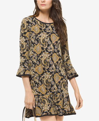 dbe35bdbf78 at Macy s · Michael Kors Paisley-Print Bell-Sleeve Dress