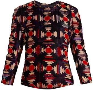 Isabel Marant Tuline ruched-shoulder velvet top