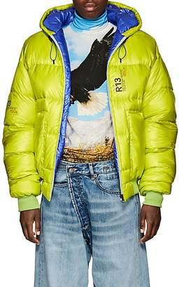 R 13 Women's Down Crop Puffer Jacket - Bt. Green