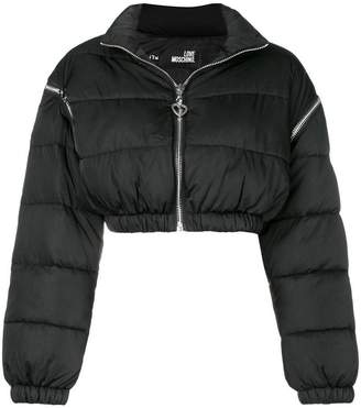 Love Moschino cropped padded jacket