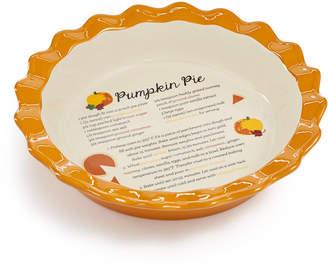 Martha Stewart Collection Ceramic Pumpkin Pie Dish, Created for Macys