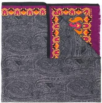 Etro paisley knit scarf