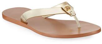 56959983701b Tory Burch Metallic Leather Women s Sandals - ShopStyle