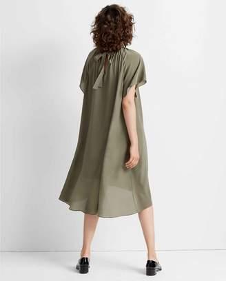 Club Monaco Flutter Sleeve Silk Dress