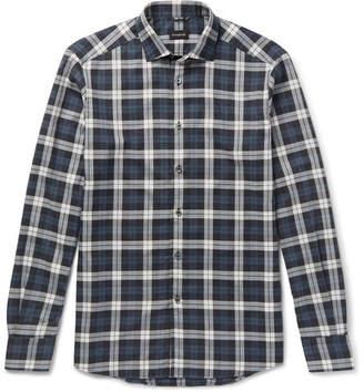 Ermenegildo Zegna Slim-Fit Checked Cotton Shirt