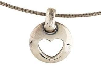 Tiffany & Co. Stencil Heart Pendant Necklace