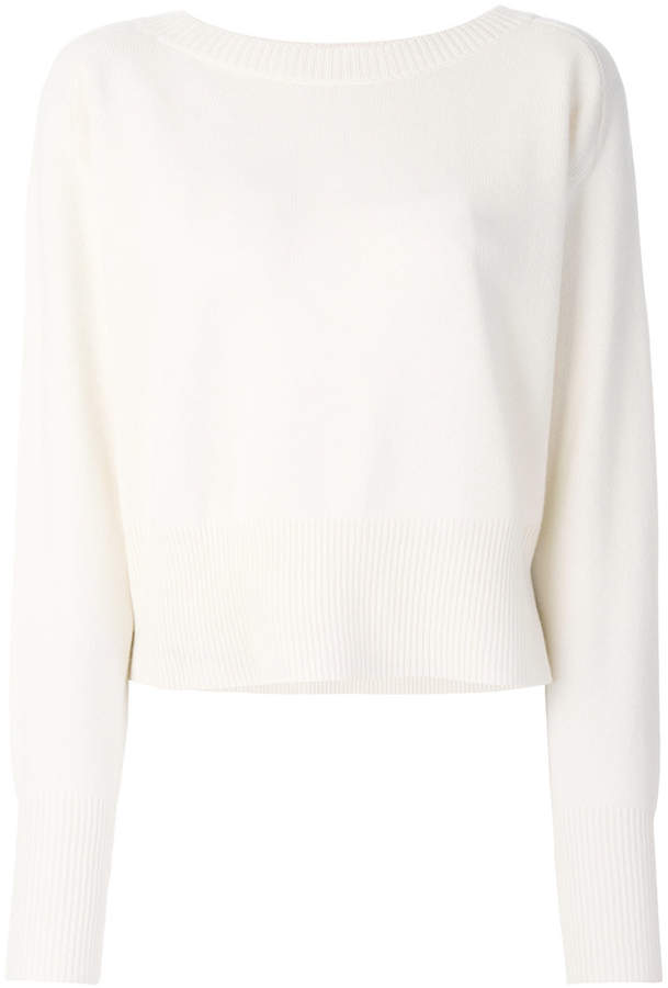 Theory ribbed trim sweater