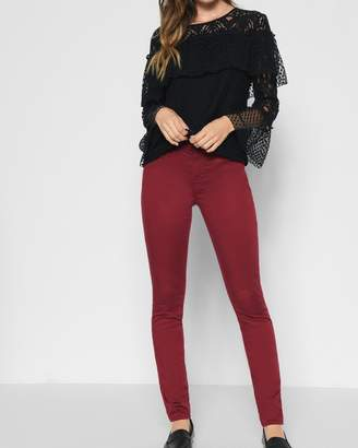 7 For All Mankind B(air) Color Ankle Skinny in Oxblood