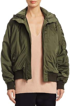 Vince Women's Hooded Bomber Jacket
