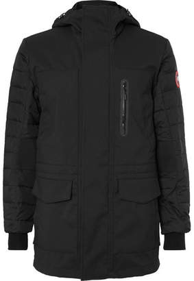 Canada Goose Selwyn Quilted Shell and Canvas Hooded Down Coat - Black