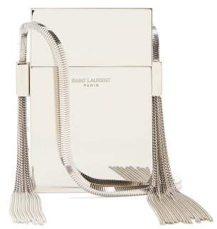 Saint Laurent Smoking Minaudiere Metal Cross Body Bag - Womens - Silver