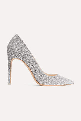 Sophia Webster Rio Glittered Leather Pumps - Silver