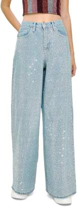 Topshop Mermaid Wide Leg Jeans