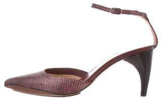 CNC Costume National Lizard Pointed-Toe Pumps