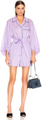 Tibi Baptise Pajama Jumper in Lavender | FWRD