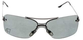 Christian Dior Rimless Aviator Sunglasses