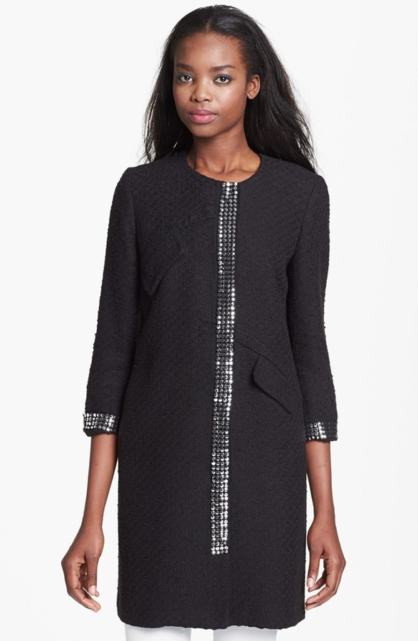Milly 'Bianca' Studded Coat