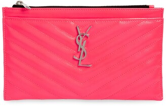 Saint Laurent Monogram Matelasse Leather Pouch