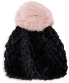 Jocelyn Mink& Fox Fur Beanie