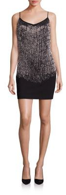 Laundry by Shelli Segal Beaded Fringe Dress $295 thestylecure.com