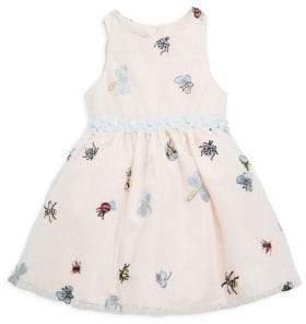 Little Girl's Mesh Bug Sleeveless Dress