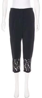 No.21 No. 21 High-Rise Lace-Trimmed Pants