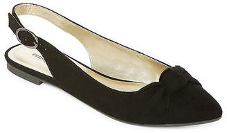 East Fifth east 5th Womens Empire Ballet Flats Buckle Pointed Toe