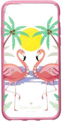 Kate Spade Jeweled Flamingos Phone Case for iPhone 8 Cell Phone Case